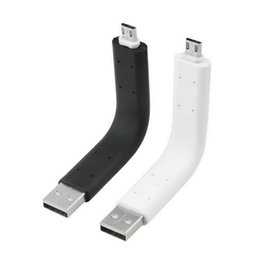 $enCountryForm.capitalKeyWord Canada - Wholesale-Top Quality!!! Bendable rigid Sync Data Micro USB Charger Cable Stand For Samsung S3 S4 for HTC