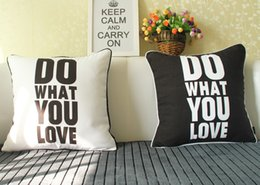 Car Sofa Couch Canada - Do What You Love English Letters Cushion Cover Black And White Cushions Covers Home Decorative Pillow Case For Car Sofa Couch