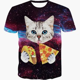 e0377525 w1215 Raisevern 2015 new galaxy space 3D t shirt lovely kitten cat eat taco  pizza funny tops tee short sleeve summer shirts plus size