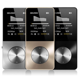 Metal MP3 MP4 Player 8 gb 16 GB Video Sport MP4 Flash HIFI Slim MP4 Reproductor de video Grabador de radio Walkman con altavoz on Sale