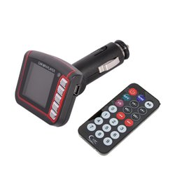 Remote Controlled Mp3 Player Canada - 2015 Hot sale 4 in 1 MP3 MP4 player SD Card Reader FM Transmitter SD MMC Car Kits With Remote Control Free Shipping