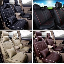 2017 High Quality From US Car Seat Cover Size L PU Leather 5 Seats Front RearFor BMW Mercedes Volkswagen All Models Covers