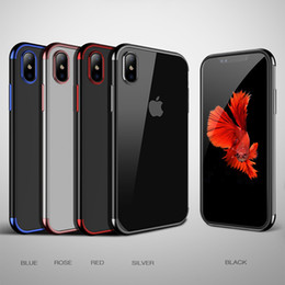 new phones 2019 - New Phone Case For iPhone X 8 Luxury Electroplate Soft TPU Colorful Silicone Back Gel Cover For Apple iPhone 7 6 plus DH