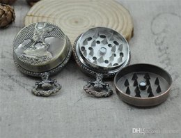 Discount roll cigars Funny Herb Tobacco Grinder Pocket Watch Shape Metal Alloy 45*20mm Cigar Spice Crusher Cigarette Rolling Machine Rubblet