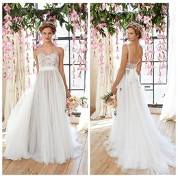 Discount White Flowy Beach Wedding Dresses | 2017 White Flowy ...