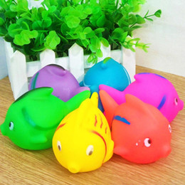 Toys Water Sound Baby NZ - 6 Colors Ocean Fish Rubber Dolls Children Toys Baby Bath Water Sounds Animal Model Kids Swiming Beach Gifts Sand Play 60pcs lot SK583