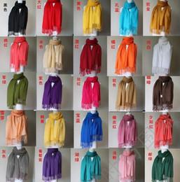Les ventes chaudes ! 10 pcs Pachmina Cachemire Soie Solide Enveloppement Femmes Filles Dames Écharpe Accessoires 40 Couleur (z07)