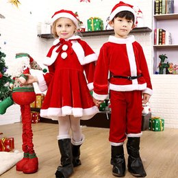 kids carnival costumes girls 2019 - New Children's Christmas Costumes Cosplay Special Occasions Plush Kids Bags Santa Claus Clothes Suit Girls Dress Cl