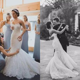 $enCountryForm.capitalKeyWord NZ - 2017 Elegant Lace Sweetheart Mermaid Wedding Dresses Cheap Lace Applique Court Train Bridal Gowns Custom Made China EN10307