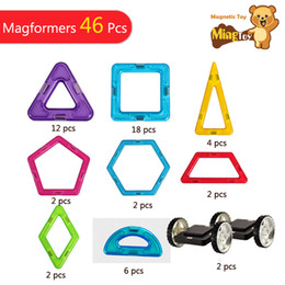 magnetic construction toys 2019 - Free Shipping Kids Toys Educational 46 PCS Standard Set Magnetic Toy Base Construction Toys Good Gift cheap magnetic con