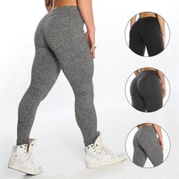 $enCountryForm.capitalKeyWord Canada - Athletic apparel quick-dry women gym wear booty enhancer scrunch Leggings custom fitness sport tights butt lifting heather grey yoga pants