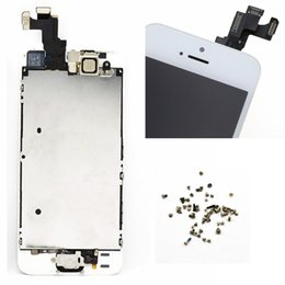 $enCountryForm.capitalKeyWord Canada - Wholesale-For Apple iphone 5S LCD display touch screen digitizer bezel frame + Home button front camera replacement + screws free shipping