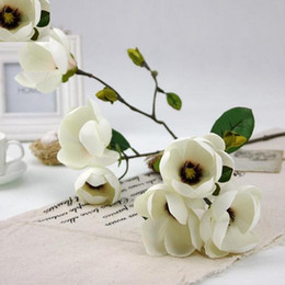 Wholesale artificial magnolia flowers nz buy new wholesale magnolia artificial flowers magnolia flowers recommend ceremoniously simulation flowers solitary home decorations free shipping flower sf012 mightylinksfo