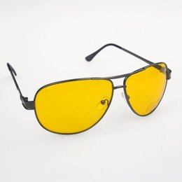 Sunglasses Definition Canada - Wholesale-2016 new arrival HD High Definition Night Driving Glasses Yellow Len Sunglasses Gun Frame