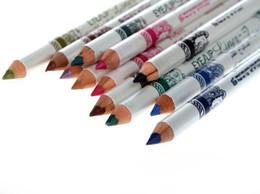 Wholesale Glitter Lips Australia - Eyeliner Lipliner Lip Eye Liner Pencil Waterproof Plastic Glitter Emerald Make Up free shipping yjl useful