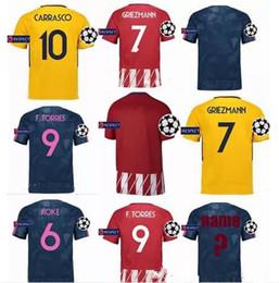 83cc99a0023 ... away Purple Top Atletico Madrid Champions League Soccer Jerseys  GRIEZMANN 2017 2018 F TORRES CARRASCO GABI GODIN KOKE . ...