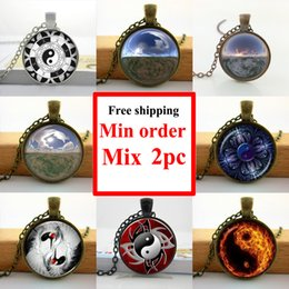 $enCountryForm.capitalKeyWord NZ - NS--00218 Wholesale Chinese Yin Yang Necklace Glass Cabochon Necklace Pendant Personalized Picture Necklace