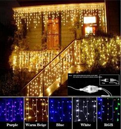 Shop led outdoor icicle christmas lights uk led outdoor icicle christmas garland led curtain icicle string light 220v 45m 100leds indoor drop led party garden stage outdoor decorative light mozeypictures Image collections