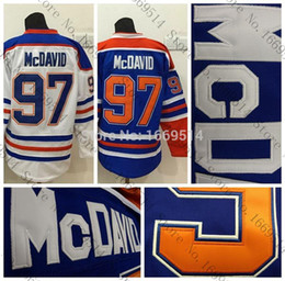 Cheap China jersey s online shopping - Men s Edmonton Oiler Ice Hockey Jerseys Home Blue White Cheap Connor McDavid Stitched Jersey China