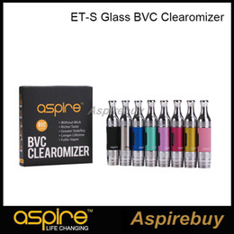 aspire et s bvc atomizers Australia - Aspire ET-S BVC Tank 3ml ETS BVC Atomizer Glass Clearomizer with Aspire BVC Coil Head Pyrex Glass Tube 5pcs Pack 100% Original
