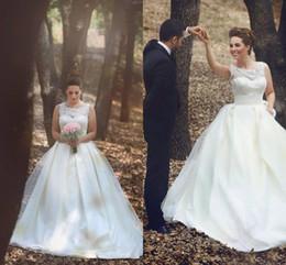 See Through Wedding Dress Crystal Beading Canada - Plus Size See Through Wedding Dresses Crew Cap Sleeve A Line Sweep Train Bridal Gowns Vestido De Noiva Custom made