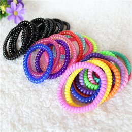$enCountryForm.capitalKeyWord NZ - 2018 Promotion Direct Selling for Female Mix Color free Shipping Telephone Wire Elastic Hair Bands Rubber Rope Women Ties Headband A024