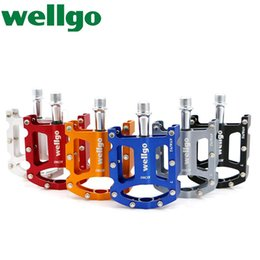 """$enCountryForm.capitalKeyWord Canada - WELLGO KC003 CR-MO Bicycle Ultralight Aluminum Extruded Platform Pedals 9 16"""" Spindle Sealed Bearing For Road Bike MTB BMX DH"""