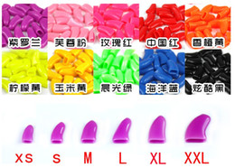 $enCountryForm.capitalKeyWord Canada - Soft Dog Cat Paw Claw Colorful Pet Puppy Kitten Nail Caps Adhesive Glue Control Nail Protector Caps Cover Set 20pcs lot