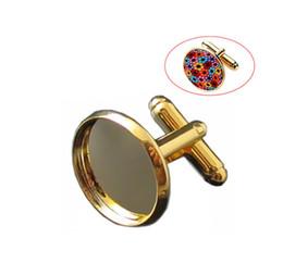 Top estilo 18mm homens camisa abotoaduras de cobre embutidos gemas fabricantes vendendo high-end Abotoaduras 16mm de ouro abotoaduras roupas abotoaduras em Promoção