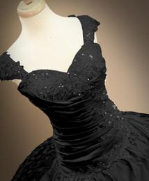 $enCountryForm.capitalKeyWord Canada - W1522 Real Photo Ball Gown Wedding Dresses Shiny Black Custom Made US2-26W++ Corset Princess Long Formal Gowns Top Selling Taffeta Best