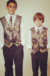 camo vest kids formal wear boys wedding wear custom made