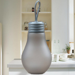 $enCountryForm.capitalKeyWord Canada - Dark gray 500 ml Students creative plastic cup lovely frosted bulb glass water bottle lift rope