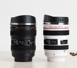 Camera mug online shopping - New Generation Camera Lens Mug ml Creative Canon Portable Stainless Steel Tumbler Travel Vacuum Flask Milk Coffee Mug Novelty gift cups