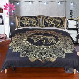 muchun brand christmas bedding sets mandala elephant bronzing new arrival 3 pcs comforter duvet cover jacquard home textiles