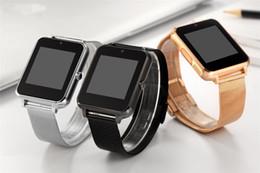 Bluetooth Smart Watch telefono Z60 supporto in acciaio inox SIM Card TF Fitness Tracker VS GT08 DZ09 A1 V8 Smartwatch per IOS Android