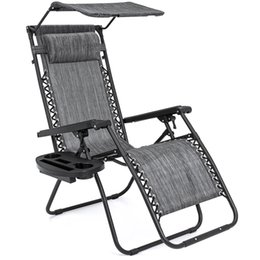 Wholesale Folding Zero Gravity Recliner Lounge Chair w Shade Cup Holder