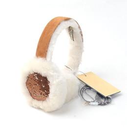 $enCountryForm.capitalKeyWord Canada - Wholesale-int'l Brand 12 colors Australian Wired Earmuffs Genuine Sheepskin Woman Ear Muff shearling Wool Winter Warm Sequin Earmuffs