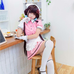 Cosplay Maid Outfits NZ - Sakuranomiya Maika cosplay costumes Japanese anime Blend S pink Maid outfit Halloween cosplay costumes Spot supply Free shipping
