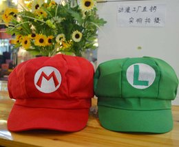 Super Mario Bros Cosplay Costume Pas Cher-Super Mario Bros Cosplay Baseball Hat Mario Cap Costume d'Halloween élastique Bonnets Chapeaux adultes Bonnets 5 Couleurs