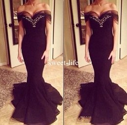 Barato Vestidos De Bola Sexy Sereia-Elegante Backless 2017 Mermaid Evening Dresses Ball Gown Plus Size Lace Appliques Sexy Prom Dress Long Satin Formal Black Gowns