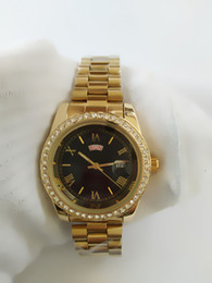 Luxury Wrist Watches Canada - relogio Men's Luxury Brand Men's Watch Free Shipping Dual Date Red Diamond Men's Watch Automatic Original Buckle Quartz Wrist Watch