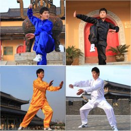 chinese jacket kung fu Canada - New Polyester Chinese Tai Chi Kung Fu Wing Chun Martial Art Suit Coats Jacket Uniform Costume