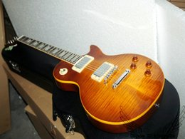 China guitar instruments online shopping - China guitar Honey Flame Top Electric Guitars OEM Musical instruments