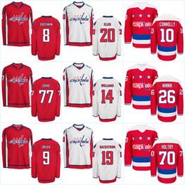 Washington Capitals Jerseys Mens  8 Alex Ovechkin 77 TJ Oshie 92 Evgeny  Kuznetsov 44 Brooks Orpik 19 Nicklas Backstrom Hockey Jerseys ff20b93b6