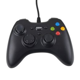 Chinese  USB Wire Game controller Xbox 360 gamepad black PC XBOX360 Joypad joystick Vlbration Ugame XBOX360 accessory For Laptop computer PC New manufacturers