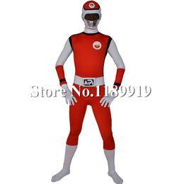 lycra spandex costumes 2019 - Wholesale-Super Sentai Costume Lycra Spandex Zentai Second Skin Full Body Suit for Men and Women discount lycra spandex