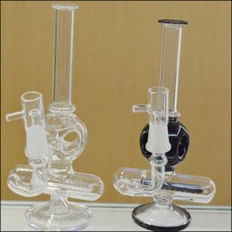 """$enCountryForm.capitalKeyWord Canada - Cheap Water Glass Bongs Inline Perc Orb Style Diffuser Concentrate Bubbler Water Pipes 8"""" Straight Tube Piece Oil Rigs 14.4mm Joint Bongs"""
