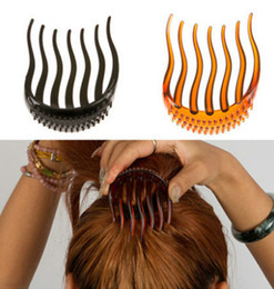 Discount hair insert comb - Min.Order Bump It Up Volume Inserts Hair Clip For Ponytail Bouffant Styles Hair Comb