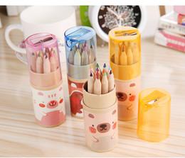 Toptan satış Yeni Sıcak Kalemler 12 Renkler Kalem Noel Hediyesi / Hediye Okul Malzemeleri Hediye Çocuklar için Boyama Ücretsiz Kargo