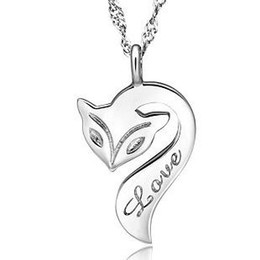 Chinese  925 silver items jewelry fox pendant statement necklace vintage wedding infinity elements fashion hot free shipping manufacturers